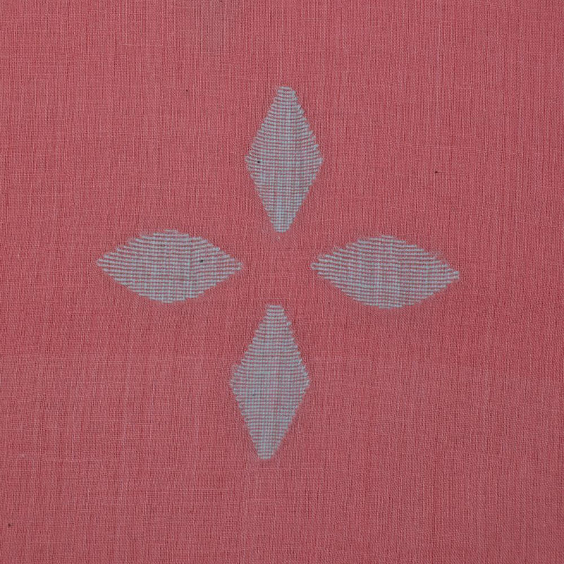 FFAB Fashion Fabric Collection | Jamdani Fine Cotton Handloom Fabric | Light Pink Color