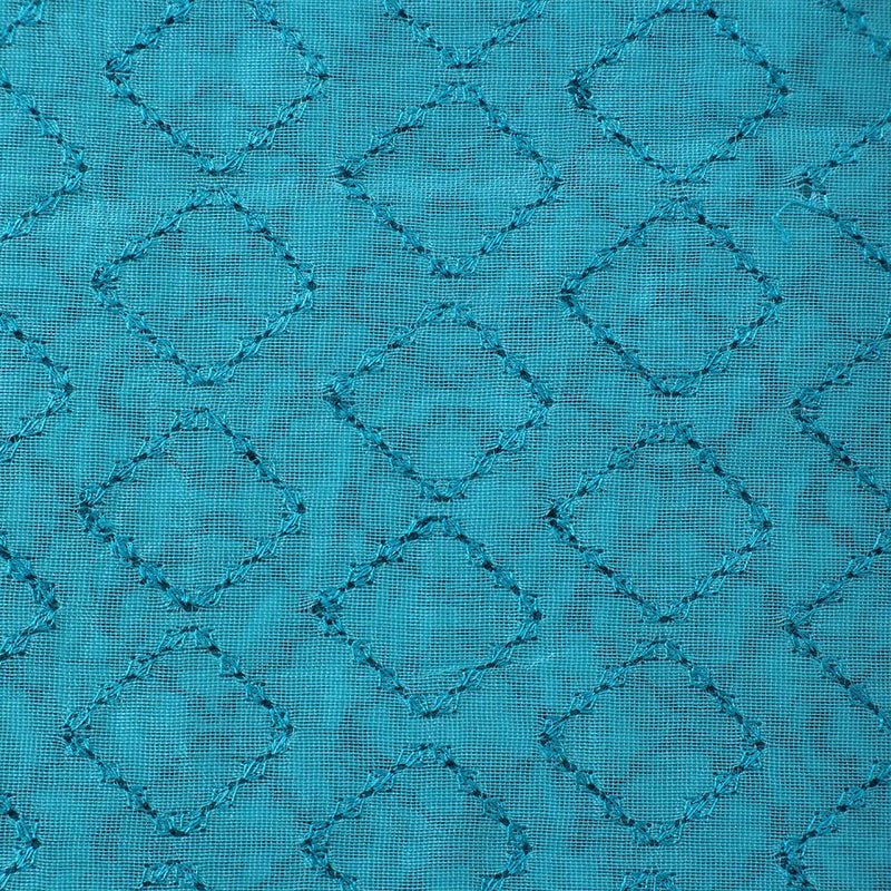 FFAB Fashion Fabric Collection | Embroidery on Fine Chanderi Fabric | Green Color