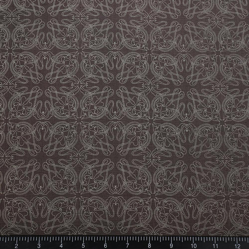 FFAB Fabric Collection | Printed Natural Silk Fabric | Grey Color
