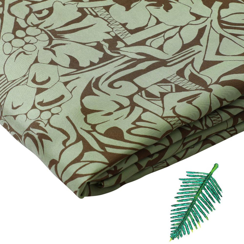 FFAB Fabric Collection | Print on Twill Silk Fabric | Sharp Green-Brown Color
