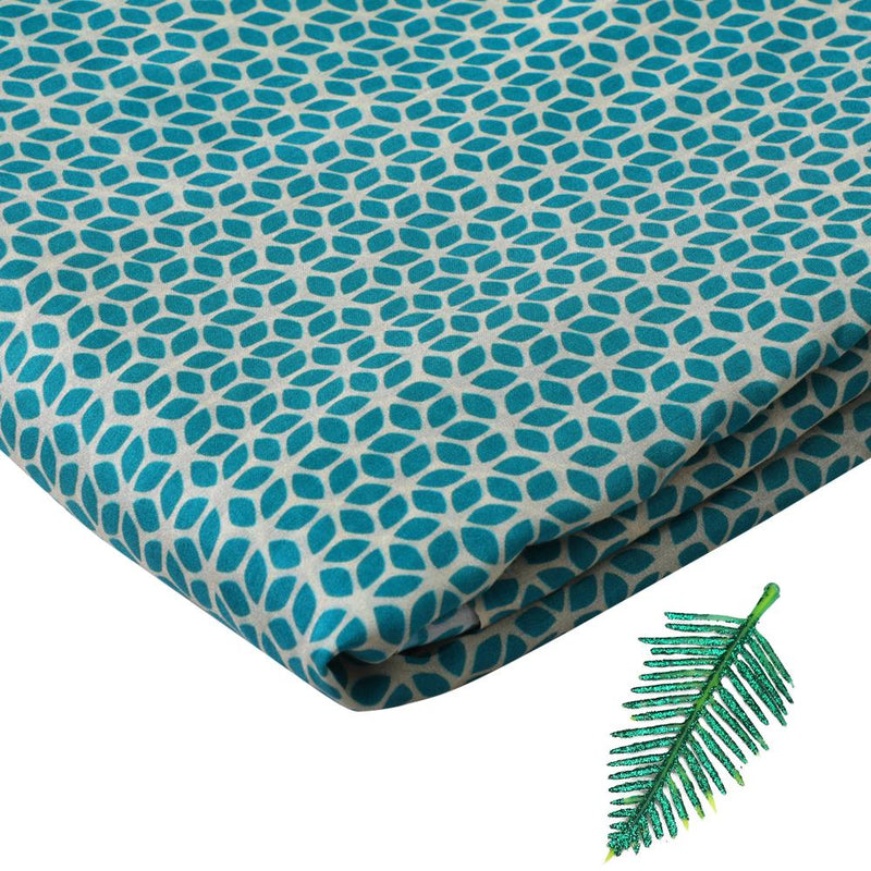 FFAB Fabric Collection | Print on Bemberg Modal Fabric | Light Sea Green Color
