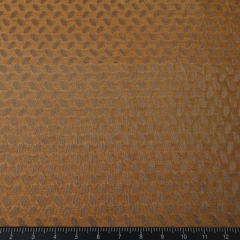 FFAB Fabric Collection | Chanderi Jacquard Fabric | GoldenRod Color