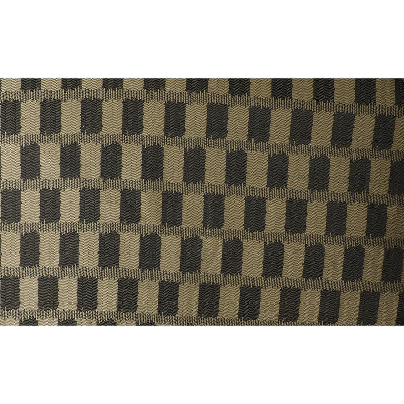 FFAB Fabric Collection | Dupion Silk Jacquard Fabric | Black and Golden Color