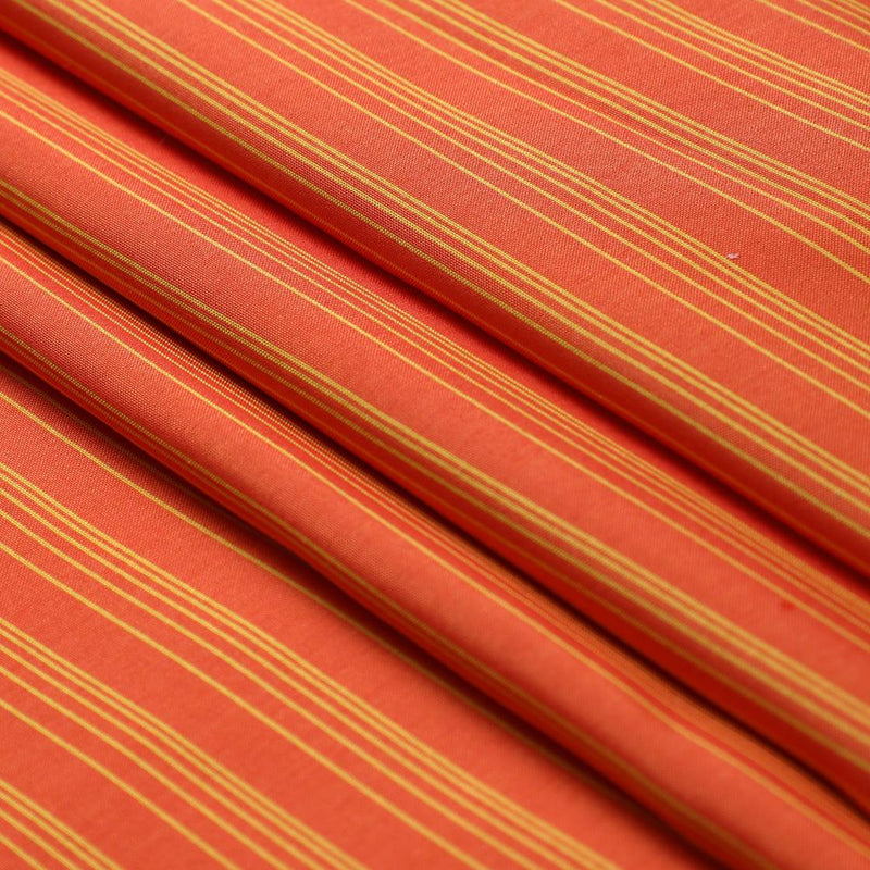 FFAB Fabric Collection | Yarn Dyed Taffetta Silk Fabric | Orange and Yellow Color