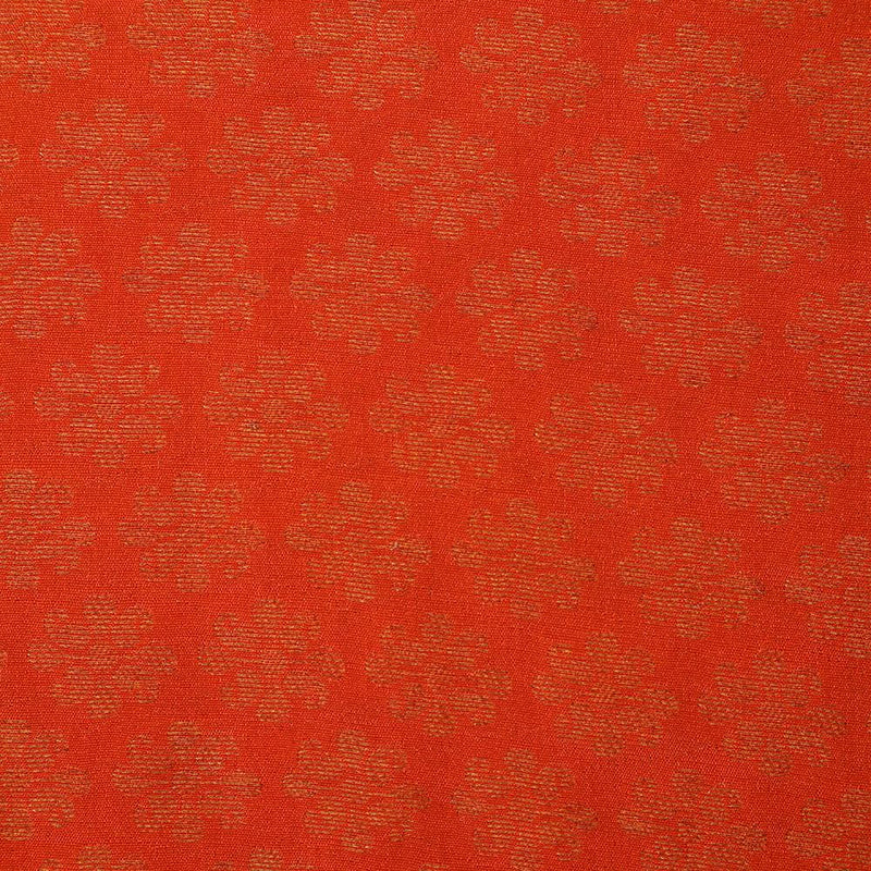 FFAB Fabric Collection | Crepe Brocade Fabric | Orange-Golden Color
