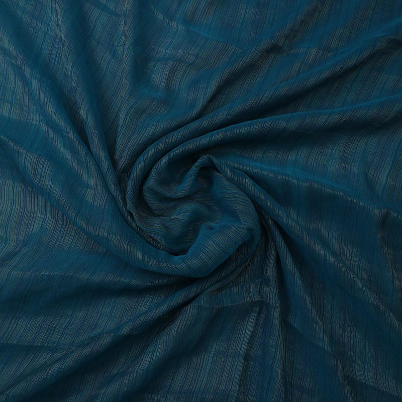 FFAB Fabric Collection |Yarn Dyed Silk Chiffon Fabric | Tail Green Color