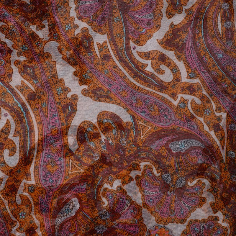 FFAB Fabric Collection | Print on Flat Chiffon Silk Fabric | Multi Color