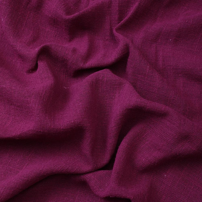 FFAB Fabric Collection | Cotton Viscose Slub Fabric | Jam Purple Color