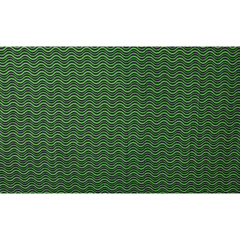 FFAB Fabric Collection | Print on Cotton Voile Fabric | Lawn Green-Black Color