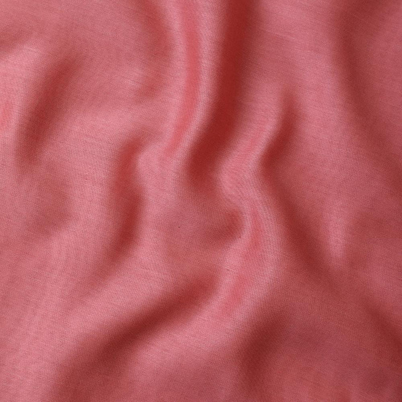 FFAB Fabric Collection | Piece Dyed Rapier Chanderi Fabric | Coral Pink Color
