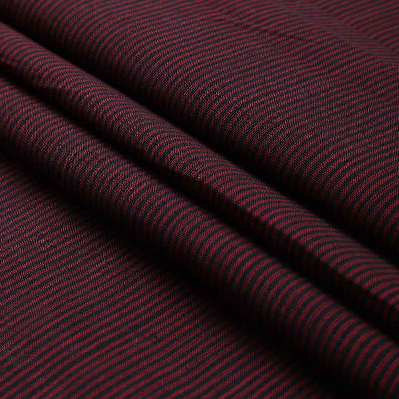 FFAB Fashion Fabric Collection | Mangalgiri Cotton Fabric| Black and Maroon Color