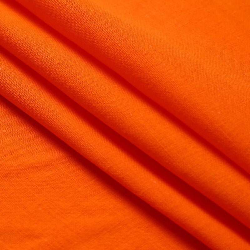 FFAB Fabric Collection | Muslin Cotton Fabric | Orange Color