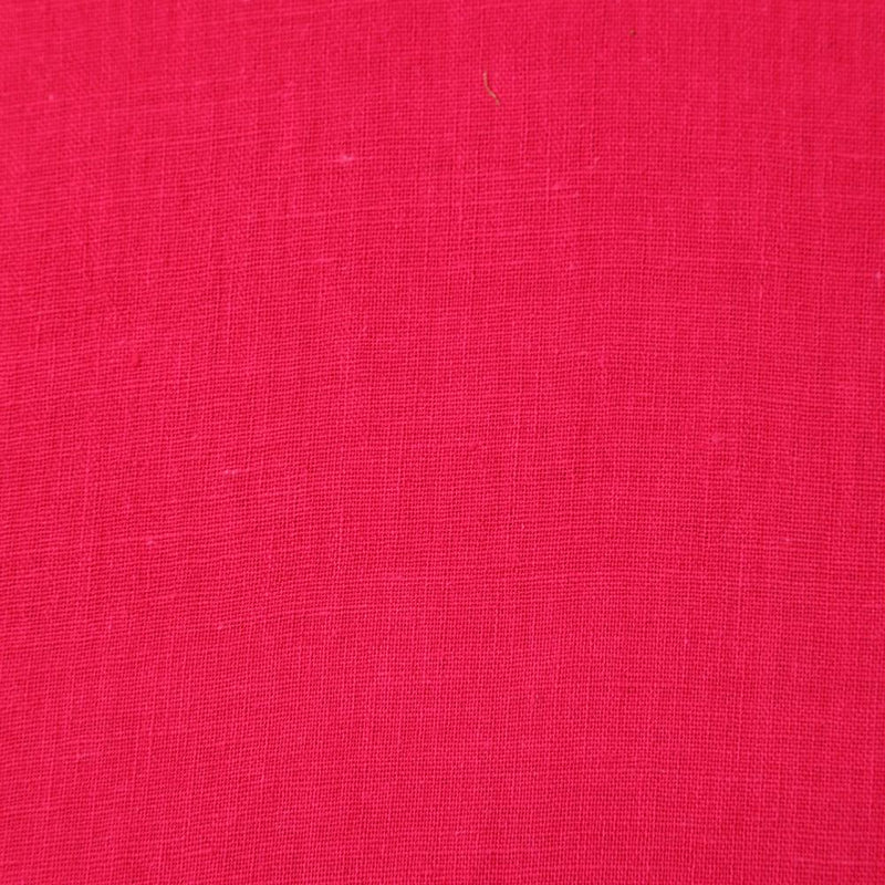 FFAB Fabric Collection | Muslin Cotton Fabric | Fuchsia Pink Color
