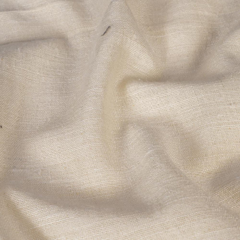 FFAB Regular Fabric Collection | Handwoven Matka Silk Fabric | Off-White Color | Dyeable