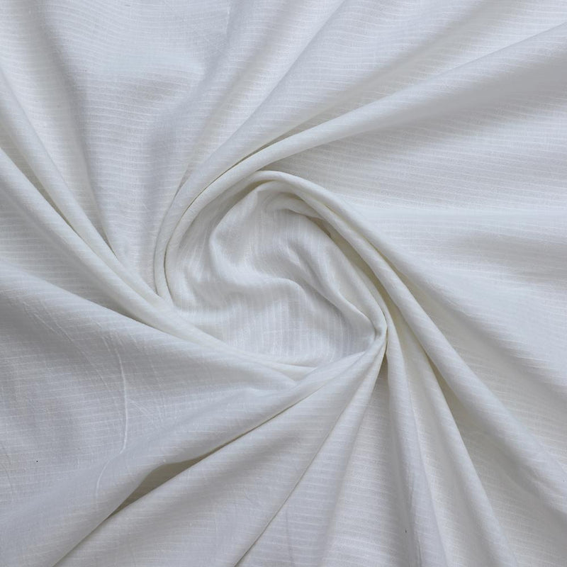 FFAB Fabric Collection | Yarn Dyed Muslin Cotton Fabric | White Color