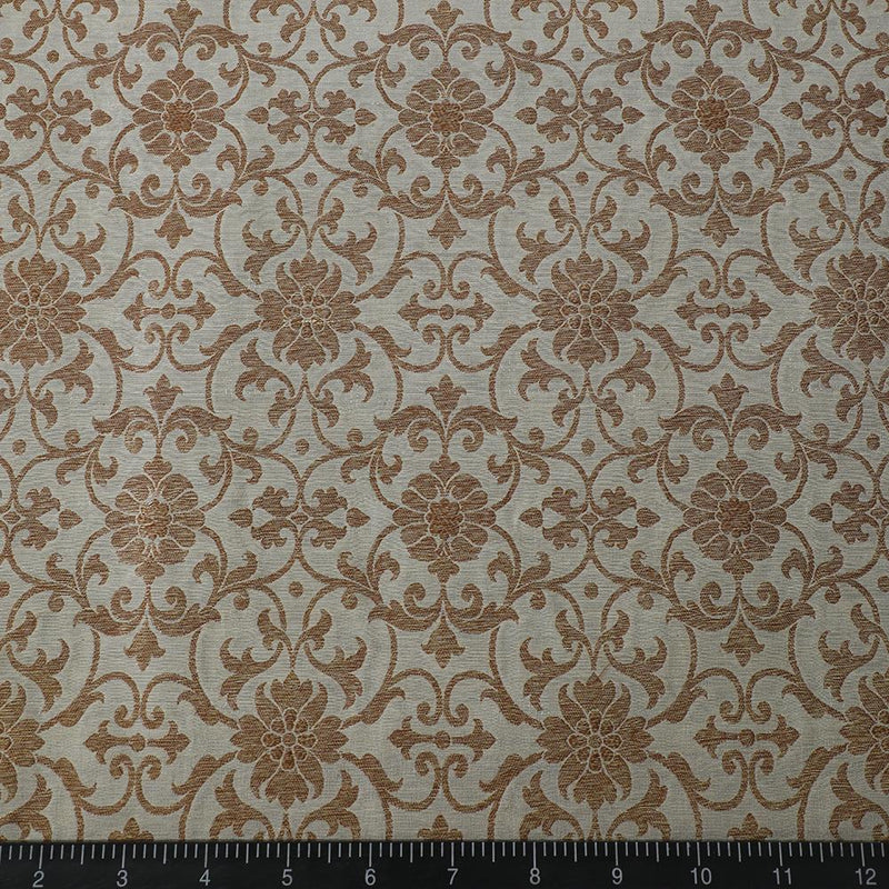 FFAB Fabric Collection | Muga Antique Zari Fabric | Golden Color