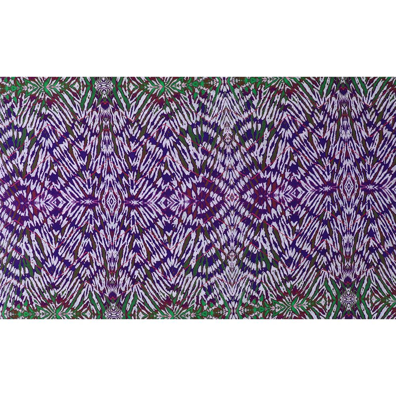 FFAB Fabric Collection | Digital Print on Crepe Silk Fabric | Purple-White Color