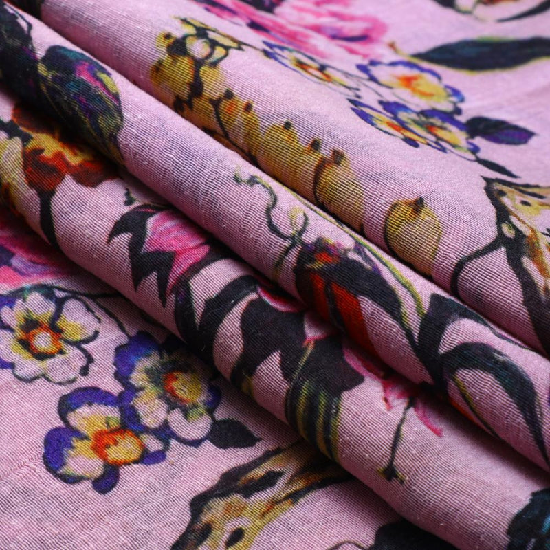 FFAB Fabric Collection | Digital Print on Noile Silk Fabric | Multi Color