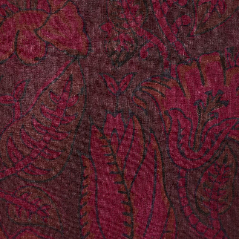 FFAB Fabric Collection | Print on Tussar Silk Fabric | Mauve and Brown Color