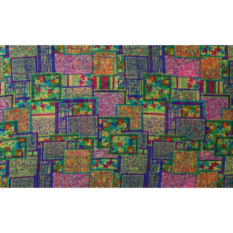 FFAB Fabric Collection | Print on Chiffon Silk Fabric | Multi Color