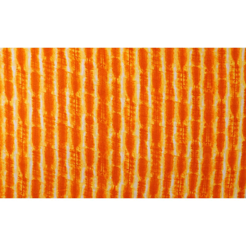 FFAB Fabric Collection | Print on Rayon Fabric | Orange-Yellow Color