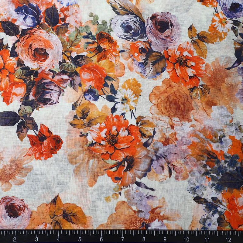 FFAB Fabric Collection | Digital Print on Linen Fabric | Multi Color