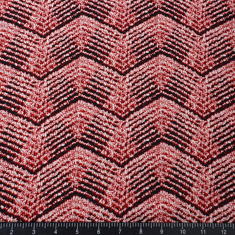 FFAB Fabric Collection | Print on Rayon Fabric | Red Color