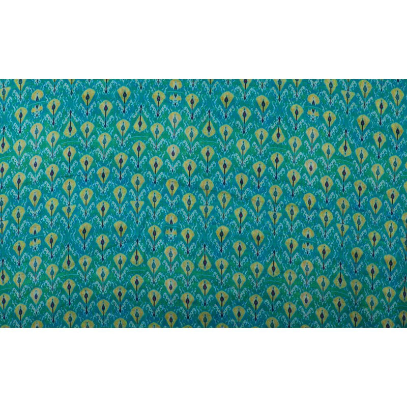 FFAB Fabric Collection | Print on Satin Chiffon Fabric | Green Color