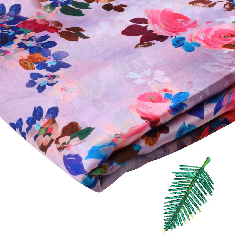 FFAB Fabric Collection | Print on Satin Chiffon Fabric | Multi Color