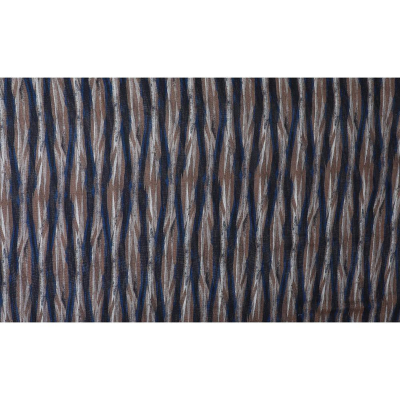 FFAB Fabric Collection | Digital Print on Noile Silk Fabric | Brown-Black Color