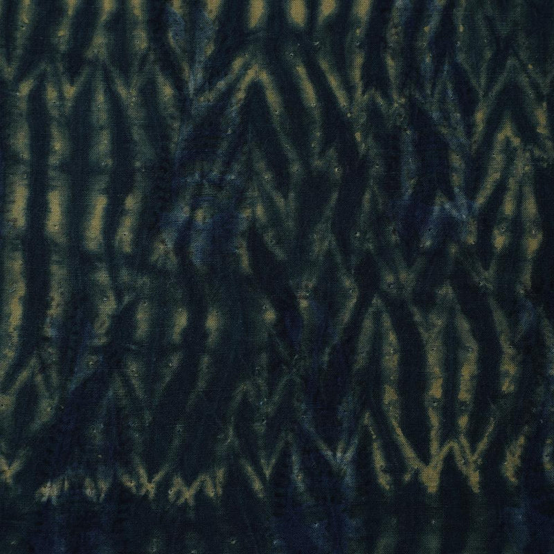 FFAB Fabric Collection | Handcrafted Shibori Print on Cotton Fabric | Navy Blue Color