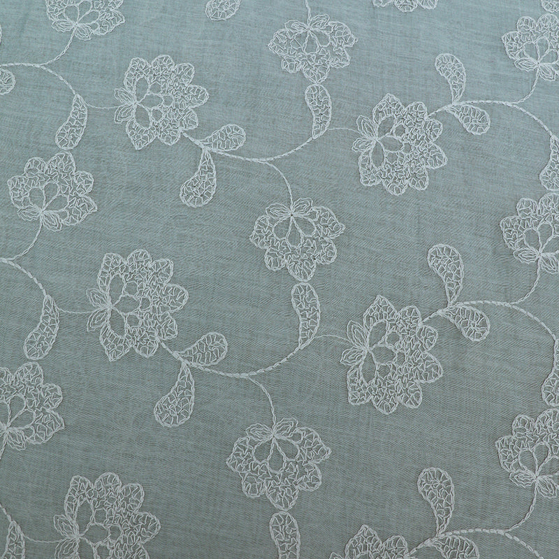 FFAB Fashion Fabric Collection  | Embroidery on Fine Chanderi Fabric | Grey Color