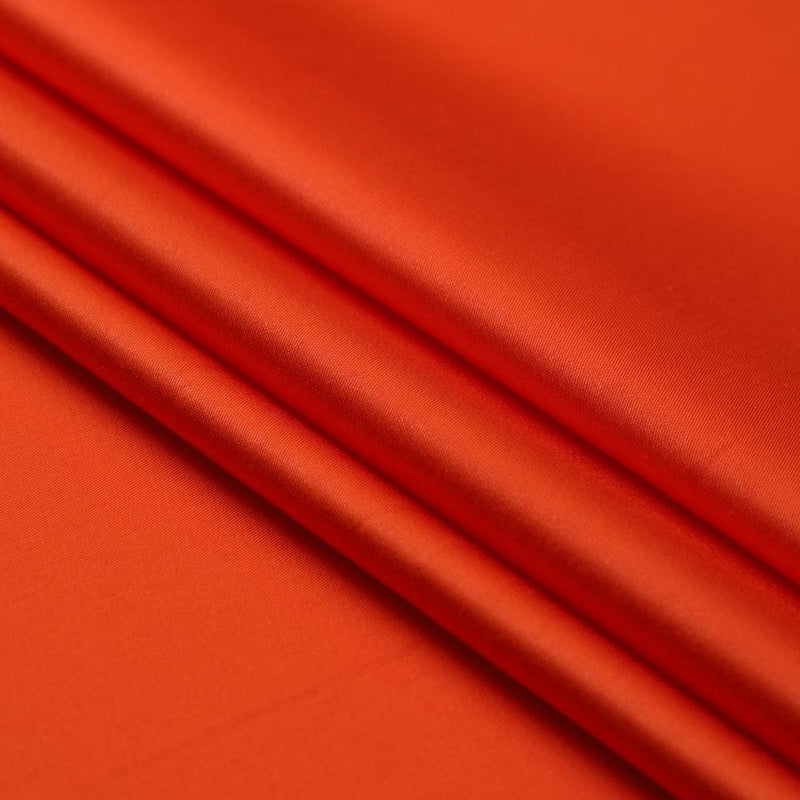 FFAB Fabric Collection | Piece Dyed Modal Satin Fabric | Rust Color