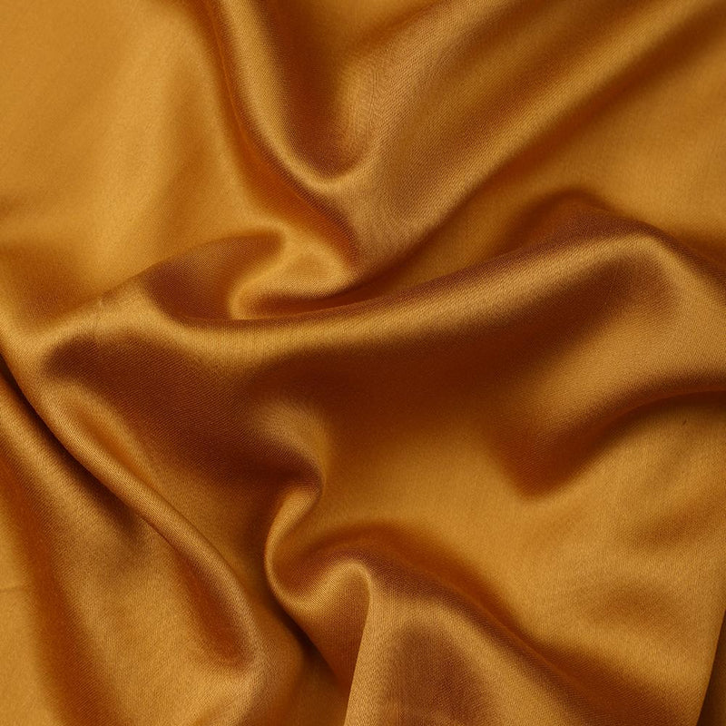 FFAB Fabric Collection | Modal Satin Fabric | Mustard Color