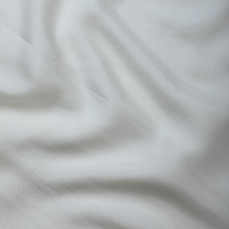 FFAB Fabric Collection | Hand Woven Mulberry Silk Fabric | Cream Color