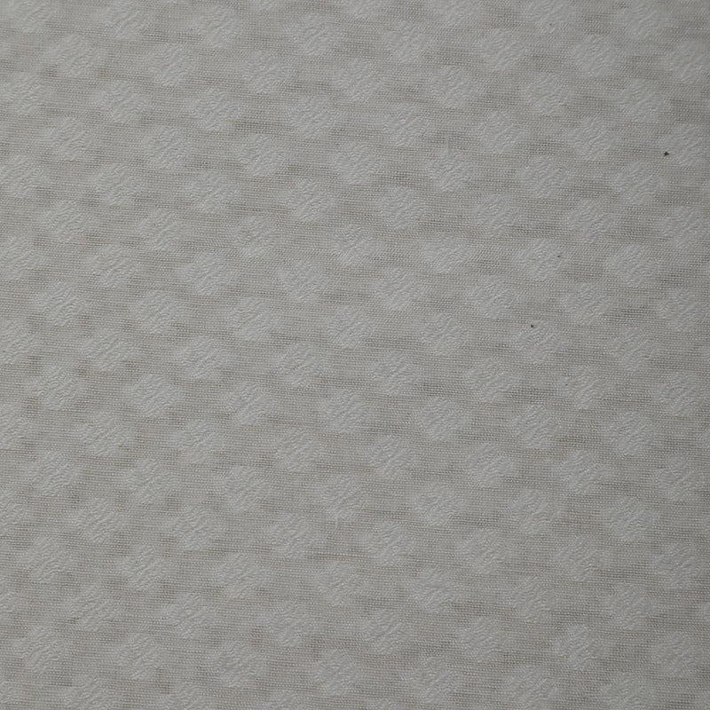 FFAB Fabric Collection | Jacquard Silk Fabric | White Color