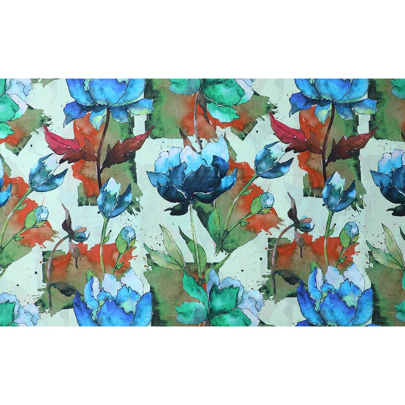 FFAB Fabric Collection | Digital Print on Cotton Lawn Fabric | Multi Color