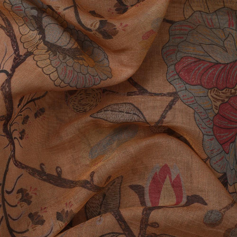 FFAB Fabric Collection | Digital Printed Tissue Chanderi Fabric | Multi Color
