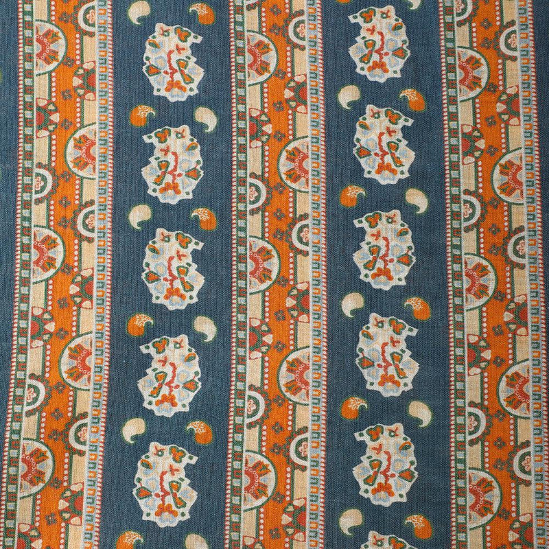 FFAB Fabric Collection | Digital Print on Fine Chanderi Fabric | Multi Color