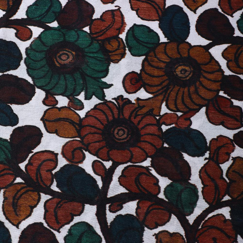 FFAB Fashion Fabric Collection | Digital Print on Fine Chanderi Fabric | Brown Color