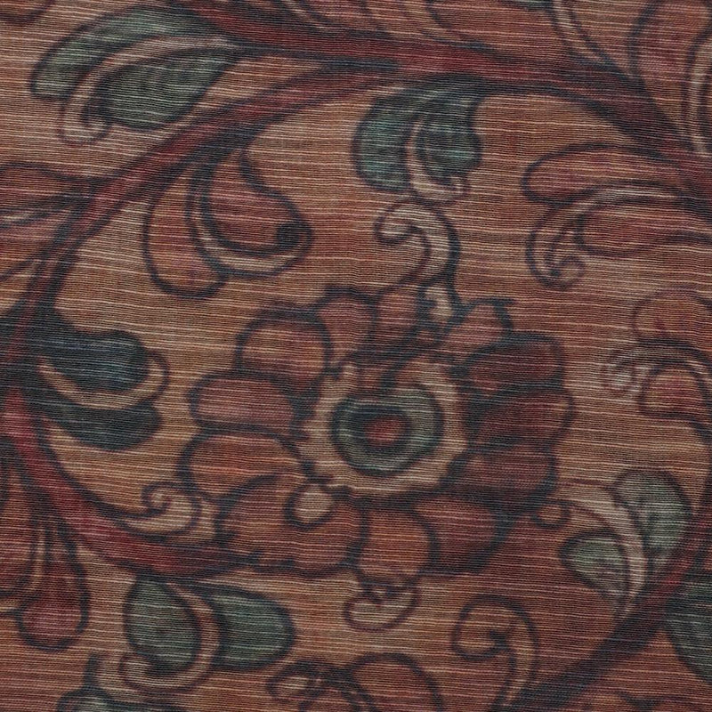 FFAB Fabric Collection | Digital Print on Silk Fabric | Brown color