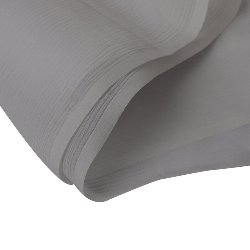 FFAB Regular Fabric Collection | 50 GLM Wrinkle Chiffon Silk Fabric| White Color | Dyeable