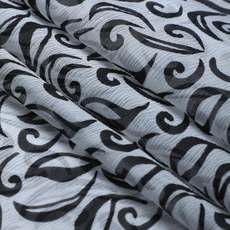 FFAB Fabric Collection | Print on Georgette Fabric | Black Color