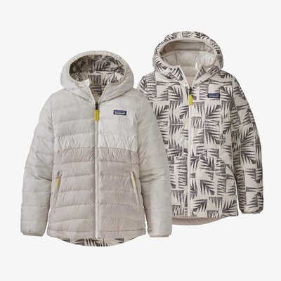Girls' Reversible Down Sweater Hoody-BCW