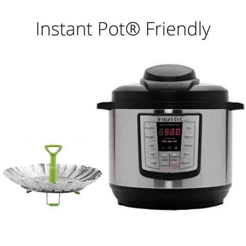 Stainless Steel Folding Steamer Basket with Instant Pot