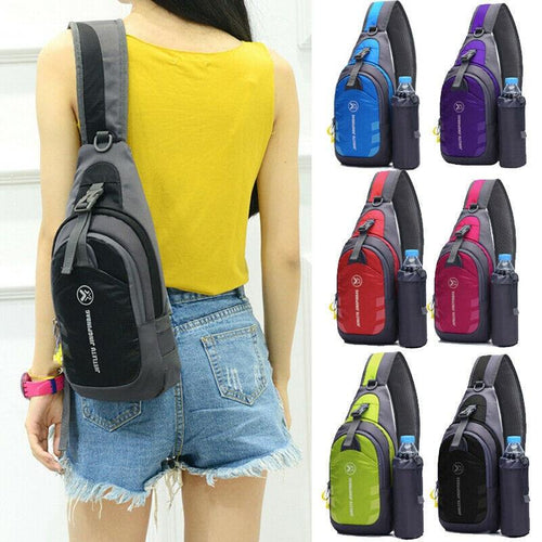 Waterproof Small Chest Bag Pack Travel Sport Shoulder Sling Backpack Crossbody Bags Gift - ZainO