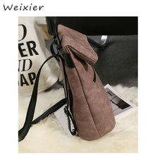 Load image into Gallery viewer, 2pcs / set Women Pu Leather Backpack School Bags and Teenagers - ZainO