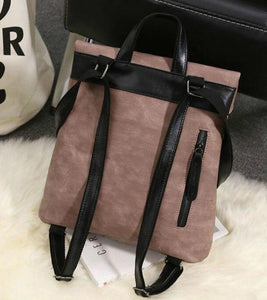 2pcs / set Women Pu Leather Backpack School Bags and Teenagers - ZainO
