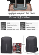 Load image into Gallery viewer, Splashproof Oxford 15.6inch Laptop Backpacks Anti Theft Men Backpack Travel Teenage Backpack bag male bagpack mochila School Bag - ZainO