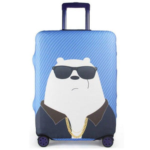 Bear suitcase cover travel accessories Case set luggage cover dust cover Trolley protection cover - ZainO